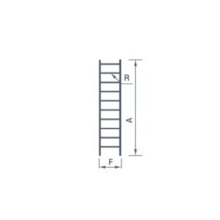 PALBEST 7109 Σκάλα Αλουμινίου 9 Σκαλοπάτια