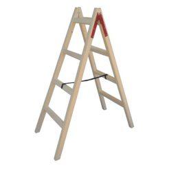 PROFAL 802204 Σκάλα Ξύλινη Διπλή με 4+4 Σκαλοπάτια