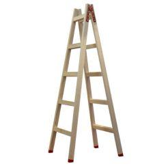 PROFAL 802205 Σκάλα Ξύλινη Διπλή με 5+5 Σκαλιά