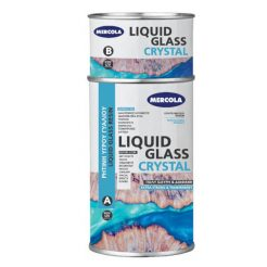 MERCOLA Liquid Glass Crystal Ρητίνη Υγρού Γυαλιού 1kg